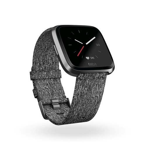 Fitbit Versa Smartwatch Charcoal Woven