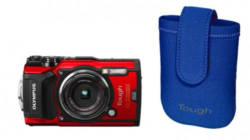 Olympus TG-5 Red + Neoprene Case